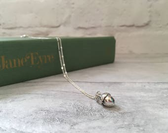 Acorn necklace, acorn pendant, layered necklace, pinecone necklace, layering necklace, nature inspired, woodland jewellery, charm necklace