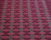 Plum Wine Linen and Cotton Handwoven Table Runner