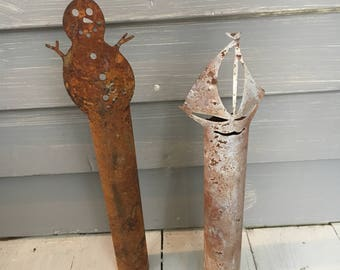 Set of Rustic Candlestick Covers