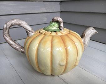 Fitz + Floyd Pumpkin Teapot