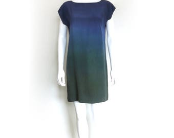 Ombre Silk Mini dress.  sample, ready to ship. Meadow