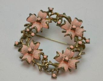 1950s Flower Ring Brooch Pin