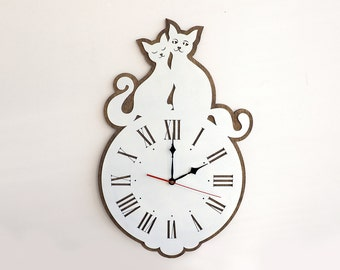 Wall Clock - Wood Clock - Home Decor - Wood Decor - Ready to Ship - Gift - Wall Clocks - Wooden Clock