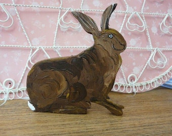 Sitting Wooden Hare