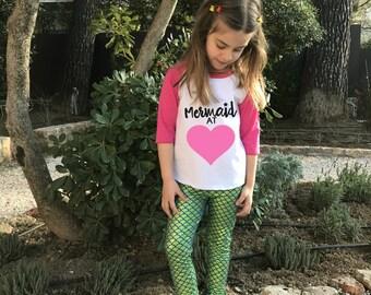 Mermaid Love - Mermaid Toddler T shirt - Mermaid Outfit - Girls Mermaid Shirt - Mermaid - Mermaid Birthday Shirt