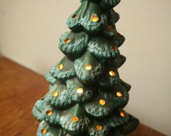 After Christmas Sale - Vintage Ceramic Christmas Tree Lighted, Retro Christmas Tree, Old Tree, Vintage Tree, Christmas Decor