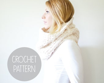 crochet pattern - chunky cowl crochet pattern - the Pisgah cowl