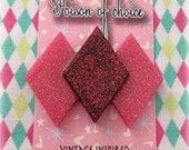SALE Valentine's harlequin brooch