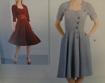 Simplicity Pattern 8259 Misses' Sew Chic Button Front Dresses- Sizes 18-26