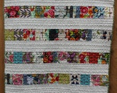 Scrappy Small Lap or Baby Quilt, Simple Design with Modern Designer Prints