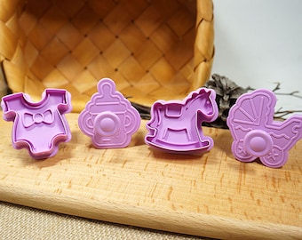 3D Cookie Stamp Cutters/Baby Cookie Stamp/Embossing Cookie Cutter Mold/Candy Stamp Cutters/Candy Mold/Baking Supply