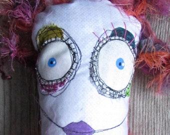 Ruth, the Pink Lady handmade OOAK art doll