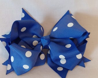 Baby Hairbows/Girls Hairbows/Boutique Hairbows/Grosgrain Ribbon/Stacked Hairbows