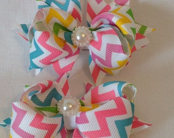 Baby Hairbows/Girls Hairbows/Stacked Hairbows/Boutique Hairbows