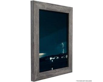 "Craig Frames, 7x11 Inch Modern Gray Picture Frame, Bauhaus 1.25"" Wide (FM26GRY0711)"