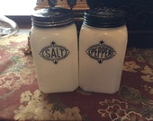 Salt Pepper Hazel Atlas Shakers, Vintage Range Set