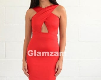 Red pencil dress  Etsy