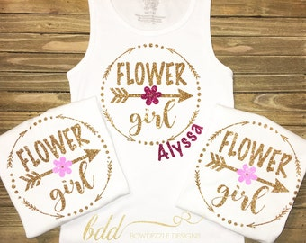 Custom Flower Girl Tank!