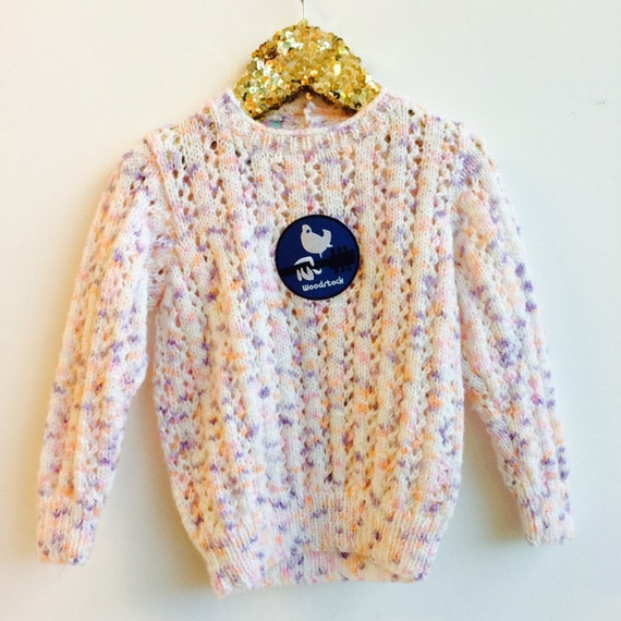 Upcycled Jumper 3-4 Years Childrens Sweater Upcycled with Woodstock Patch Unisex