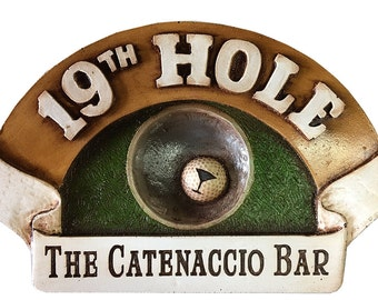 Golf 19th Hole Personalized Sign