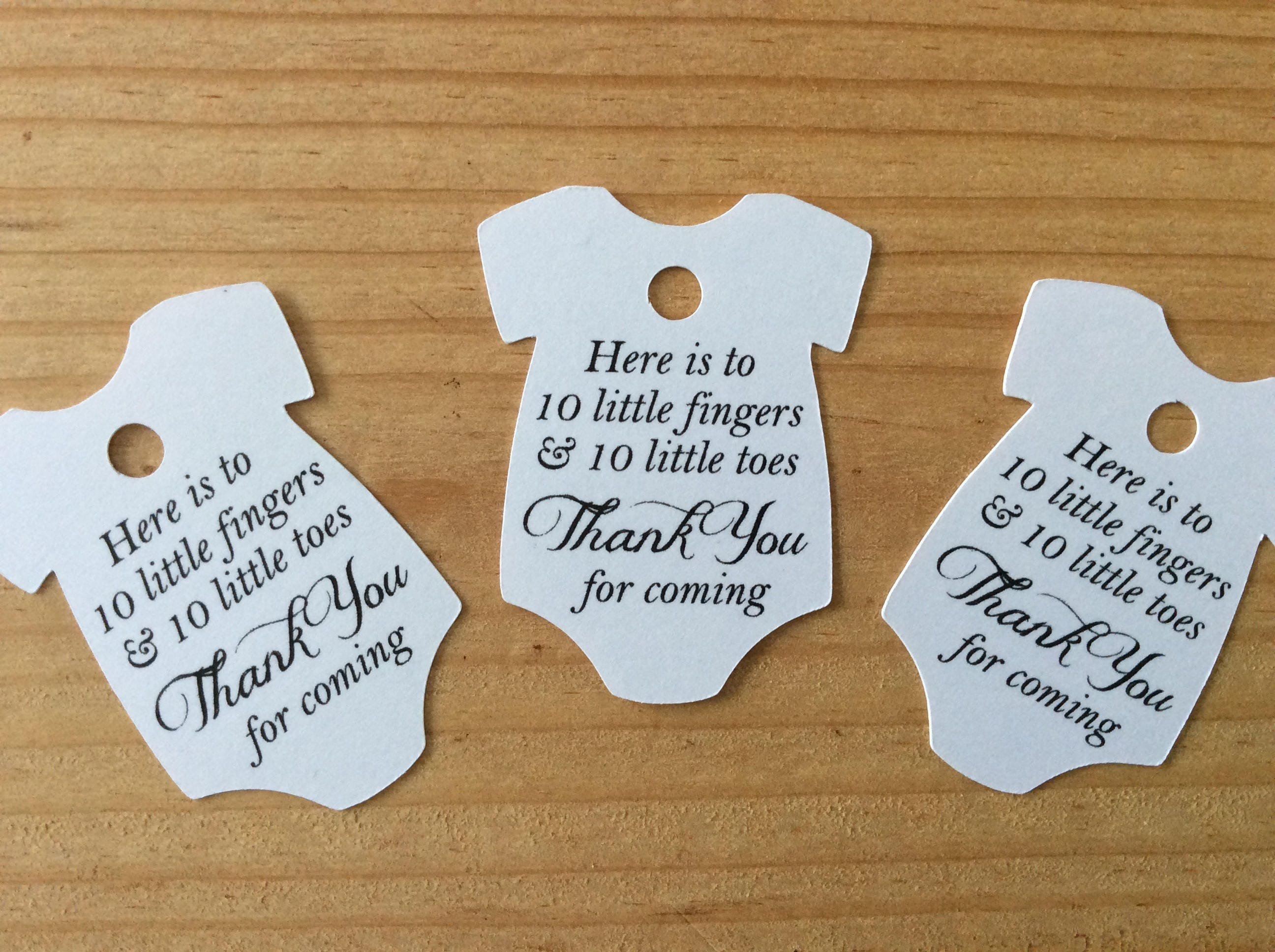 Baby Onesie Favor Tags Nail Polish Baby Shower Favor