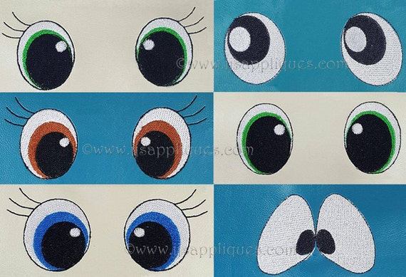 Eyes embroidery designs lot of eye styles for hoop