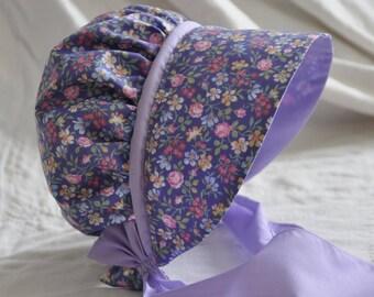 Purple Calico Bonnet