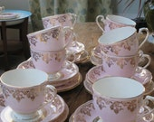 RESERVED FOR WENDY 2 X Royal Grafton vintage china tea cup trio
