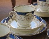 Plant Tuscan vintage china tea cup trio
