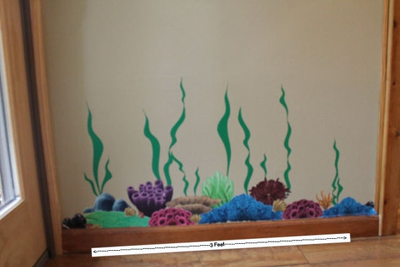 Kids Wall Decals Coral Seaweed Wall Decals Ocean Wall