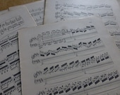 25 Loose Music Pages, French Antique, Scores, X 25 Beethoven, Late 1800's