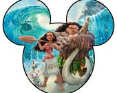Disney Mickey Mouse Moana Inspired Iron-On Digital File