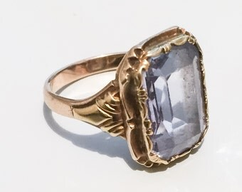 Aquamarine Ring, 14K Gold, European Gold Standard 585, Vintage Jewelry SPRING SALE