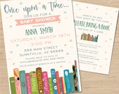 Book Baby Shower Invitation // Baby Shower Invitation //  Library Baby Shower