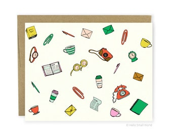 Busy Busy Note Card - Notecard, Stationery, Correspondence, Just Because Card