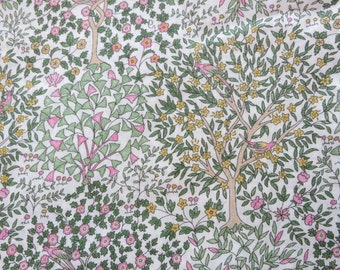LIBERTY Of LONDON Tana Lawn Cotton Fabric  'Jess and Jean' Trees/Birds Spring/Summer 2014