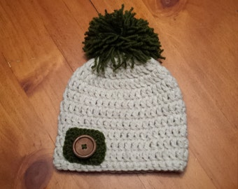 Baby Hat, Crochet Hat, Baby Boy Hat, Winter Hat, Pom Pom Hat, Crochet Hat, Beanie, Baby Boy, Photo Prop