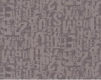 Compositions by Basicgrey for Moda - Number Jumble - Stone - 1/2 Yard Cotton Quilt Fabric 117