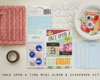 Once Upon a Time Mini Album / Journal and Scrapbook Kit