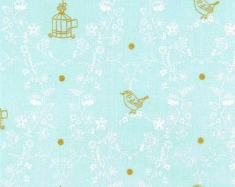 Free Bird (Mist) - Wee Sparkle - Michael Miller Fabrics - 1 Yard