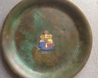 Antique vintage bowl coin dish ashtray tray Danish Denmark argentor bronze