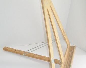 Vintage Anco Built Easel Adjustable Tabletop Artist's Wooden Triangle Easel