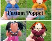 Custom Wool Felt Poppet Stuffed with Polyfill and Herbs - deity poppet, voodoo doll, juju doll, spirit doll, altar doll