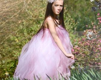 Pink Flower Girl Tutu Dress