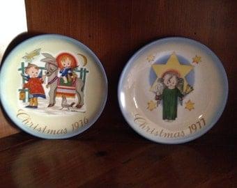 Schmidt Hummel Christmas 2  Plates   1976   1977   Collection