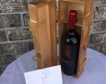 Love Letter Wine Box, Wedding Wine Box tradition for love that lasts forever. Varnished and Stained