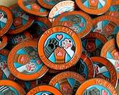Toe Beans Appreciation Club Enamel Pin / Lapel Pin / Jewelry / Badge
