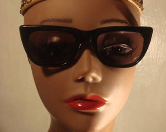 Vintage Black Prescription Sunglasses