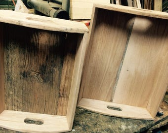 Reclaimed oak serving  trays