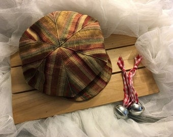 Maroon striped Holiday design newsboy hat, beret for boys, Great Gatsby hat, hats for boys,